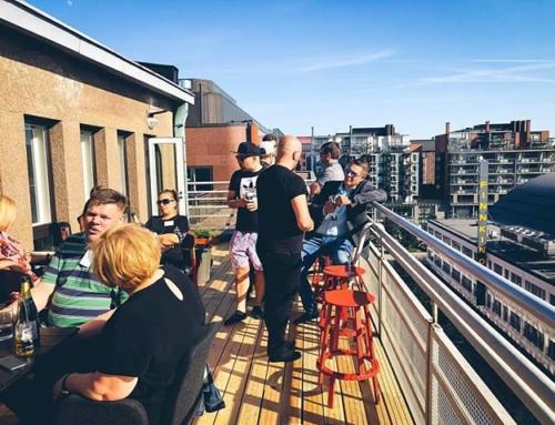 Pitkästä aikaa p/r päivitystä! kattojen yllä toimistollamme ad hoc -pippaloissa, joista kiitos kollegoille @ Ghost Companyssä